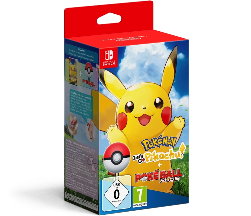 NINTENDO GAME NINTENDO SWITCH POKEMON LET'S GO PIKACHU + POKEBALL PLUS